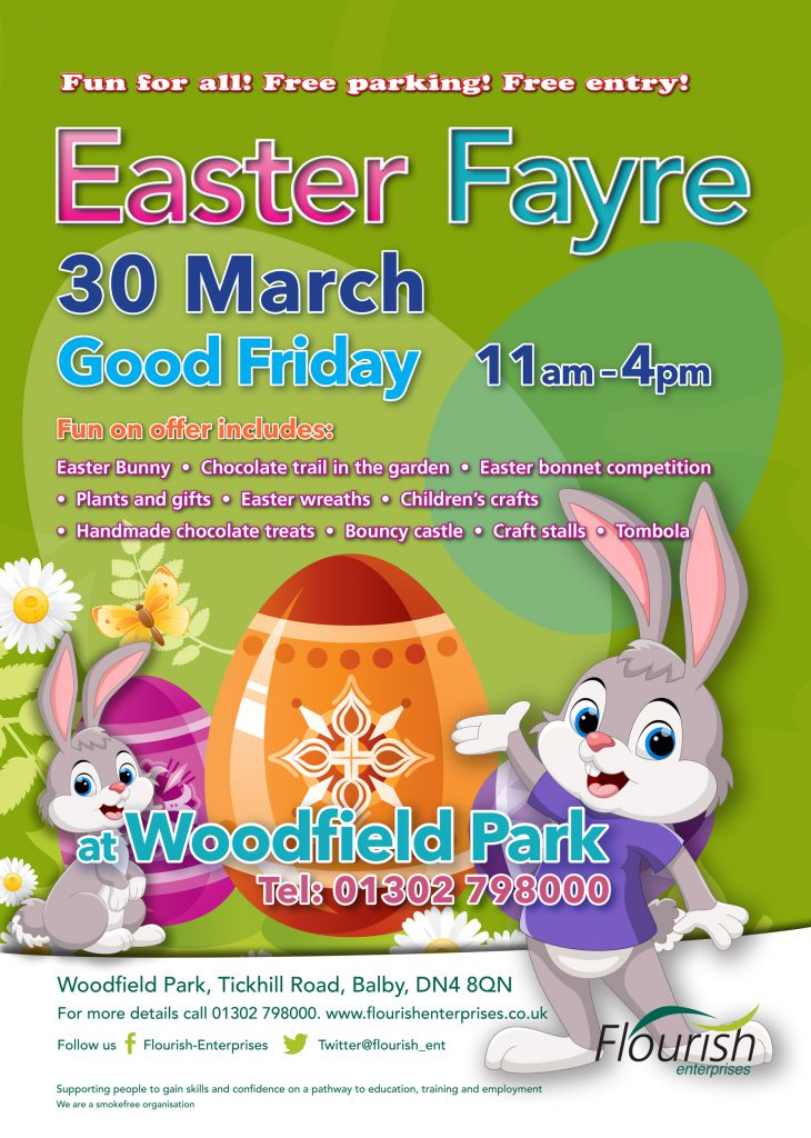 Easter fayre coming soon flourish enterprises working together easter fayre coming soon negle Image collections